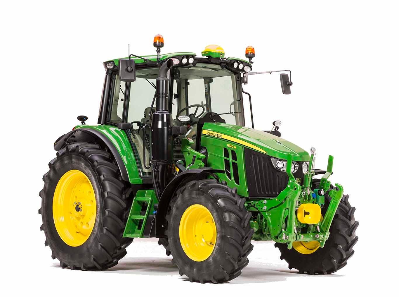New 6M tractors front angle view
