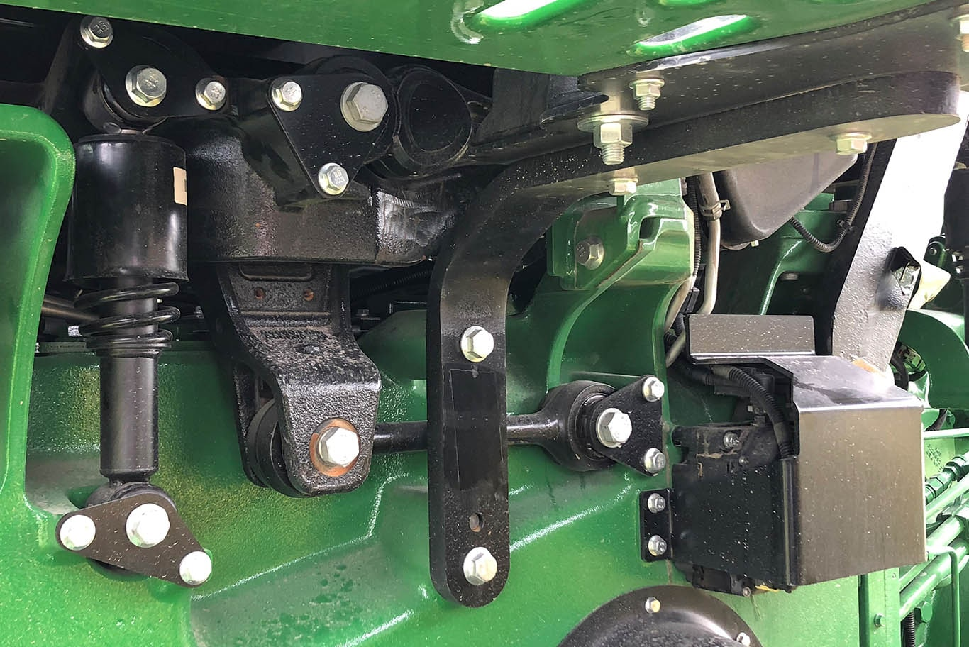 The Premium CommandView III Cab with cab suspension is standard on 2019 John Deere 8RT Series Tractors