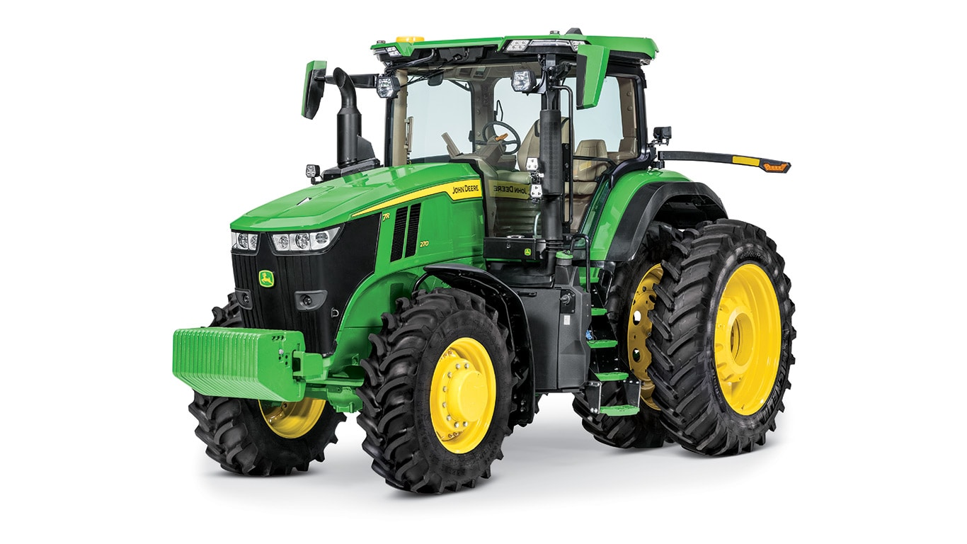 New 7R 270 Tractor displayed at an angle