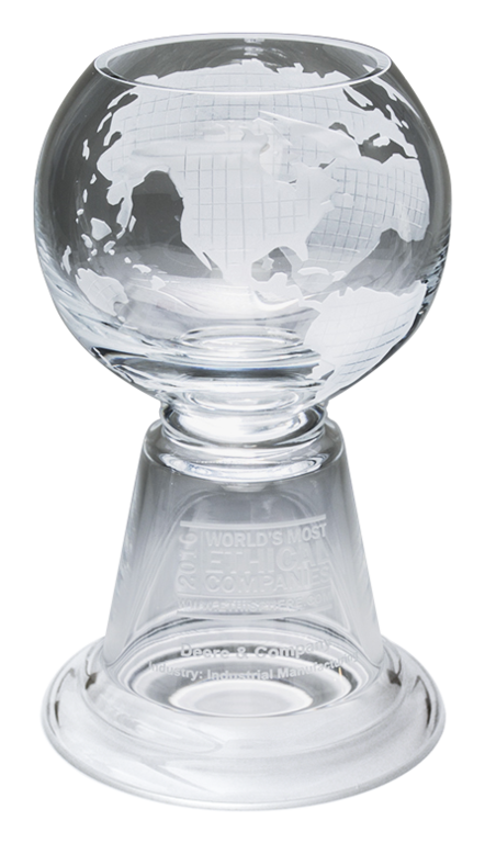 Image of the World's Most Ethical Companies trophy award